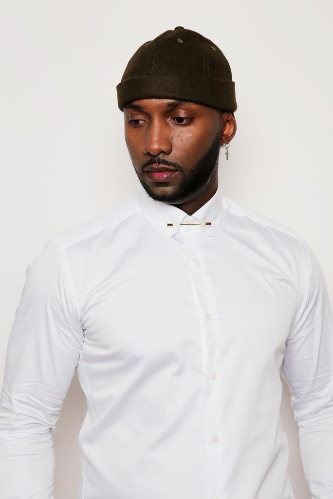 Chemise blanche avec pince