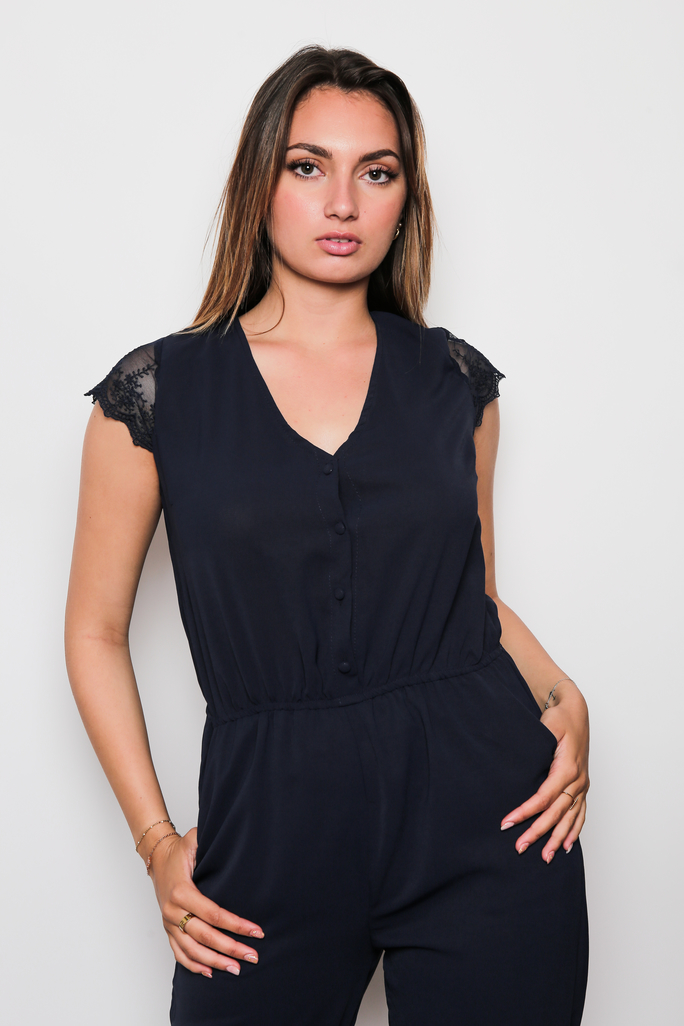 Combi femme bleu marine