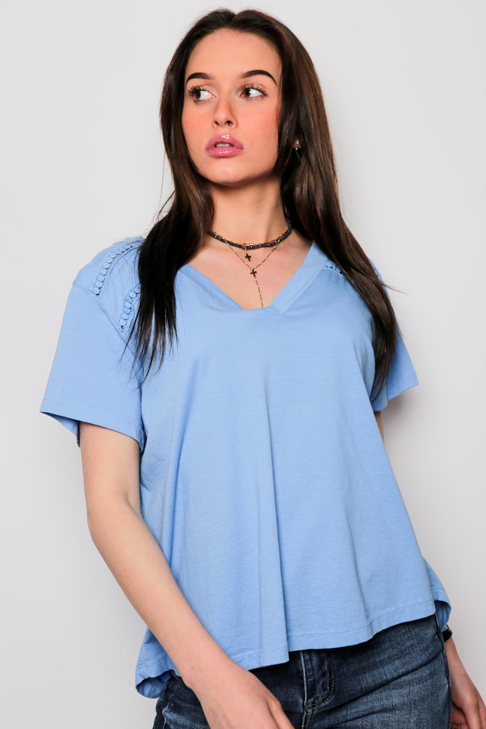 Tee shirt bleu