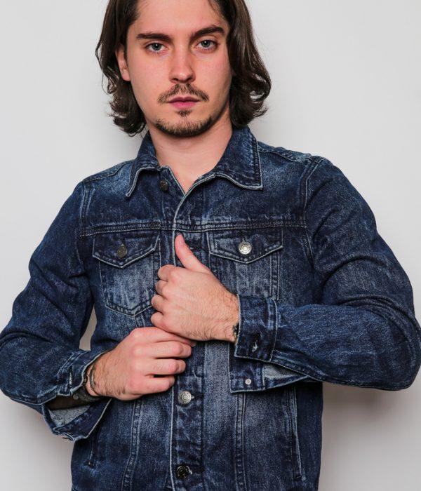 Veste en jean homme foncé