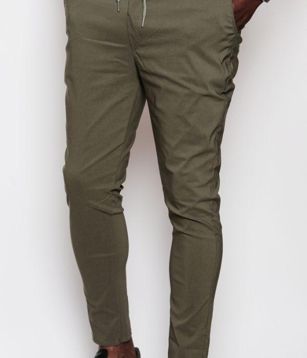 Pantalon kaki avec lacet